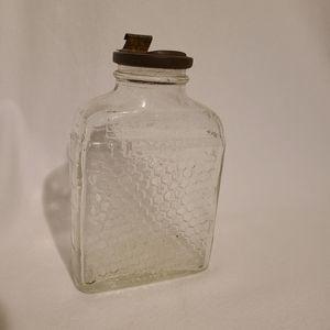 Vintage Lake Shore Honey bottle with metal lid